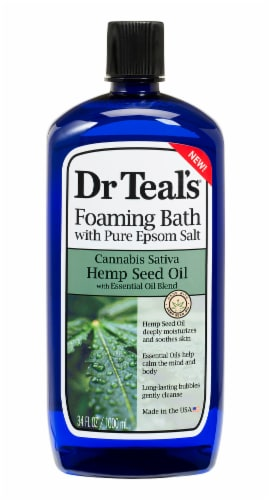 Dr Teal's Hemp Seed Oil & Pure Epsom Salt Foaming Bath Perspective: front