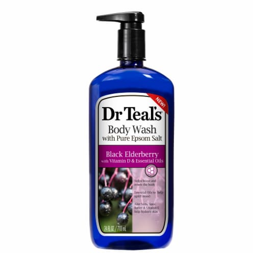 Dr Teal's Black Elderberry Body Wash Perspective: front