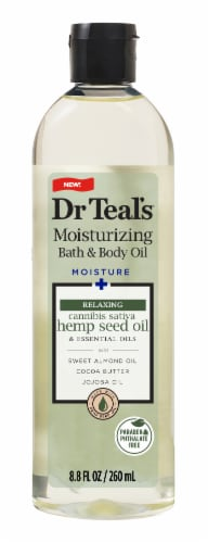 Dr Teal's Moisturizing Hemp Seed Bath and Body Oil Perspective: front