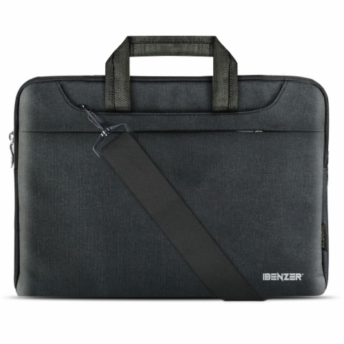 iBenzer Laptop Computer Sleeve Carrying Case with Shoulder Strap Perspective: front