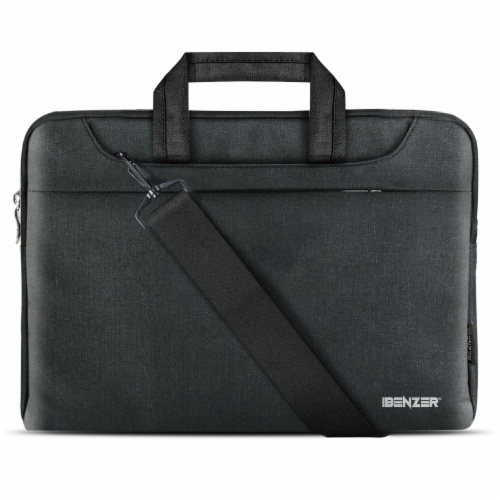 iBenzer Laptop Computer Sleeve Carrying Case Bag with Shoulder Strap Perspective: front