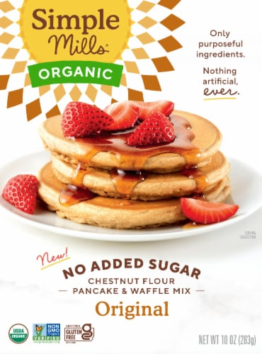 Simple Mills Organic Chestnut Flour Pancake & Waffle Mix Perspective: front