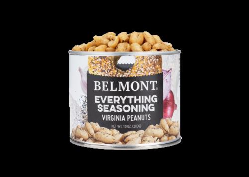 Belmont Peanuts Everything Bagel Seasoning Virginia Peanuts, 10 oz Perspective: front