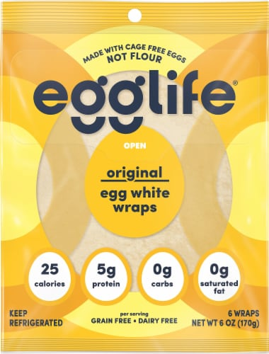 Egglife Original Egg White Wraps Perspective: front