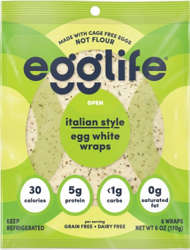 Egglife Italian Style Egg White Wraps Perspective: front