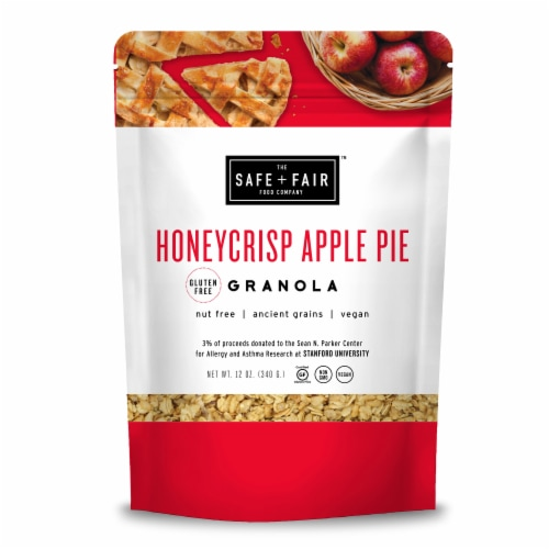 SAFE + FAIR Gluten Free Honeycrisp Apple Pie Granola Perspective: front