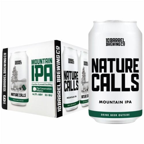 10 Barrel Brewing Nature Calls Mountain IPA Beer Perspective: front
