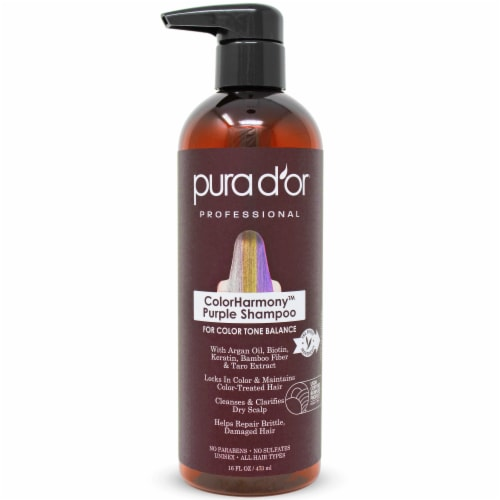 Pura d'or ColorHarmony Purple Shampoo Perspective: front