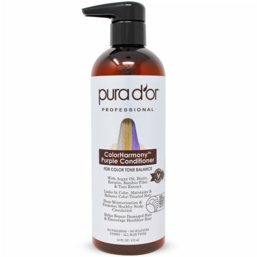 Pura d'or ColorHarmony Purple Conditioner Perspective: front
