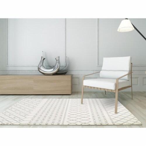 L Baiet LP106W46 Hannah Boho Rug, White - 4 x 6 ft. Perspective: front