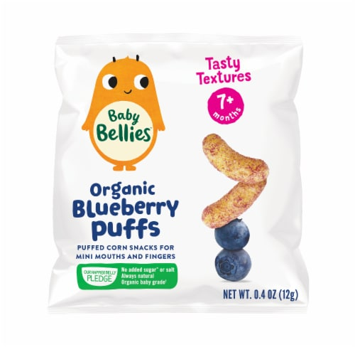 Little Bellies Baby Bellies Organic Blueberry Puffs Snack Perspective: front