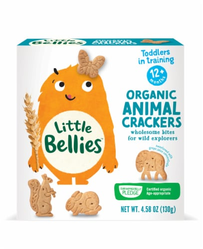 Little Bellies Organic Animal Crackers Perspective: front