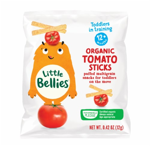 Little Bellies Organic Tomato Sticks Snacks Perspective: front