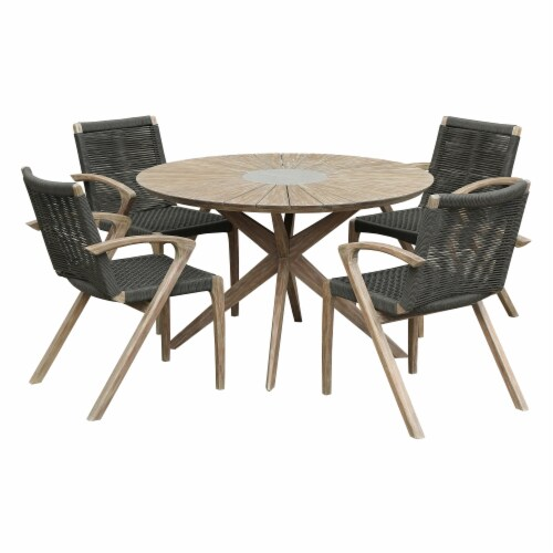 Oasis And Brielle Outdoor 5 Piece Light, Outdoor Stone Table And Chairs Singapore