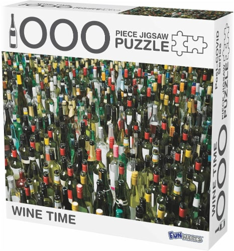 Wine Time Puzzle 1000 Piece Jigsaw Puzzle Perspective: front