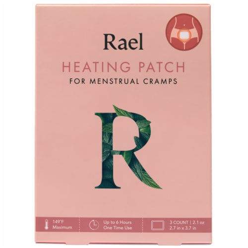 Rael Menstrual Cramp Heating Patch Perspective: front