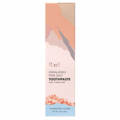 Rael Sweet Herbal Mint Flouride-Free Toothpaste Perspective: front