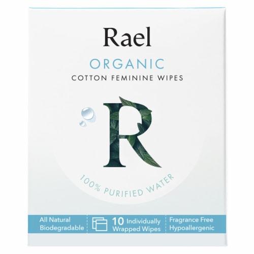 Rael Organic Cotton Feminine Wipes Perspective: front
