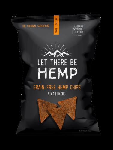 Let There Be Hemp Vegan Nacho Grain-Free Hemp Chips Perspective: front