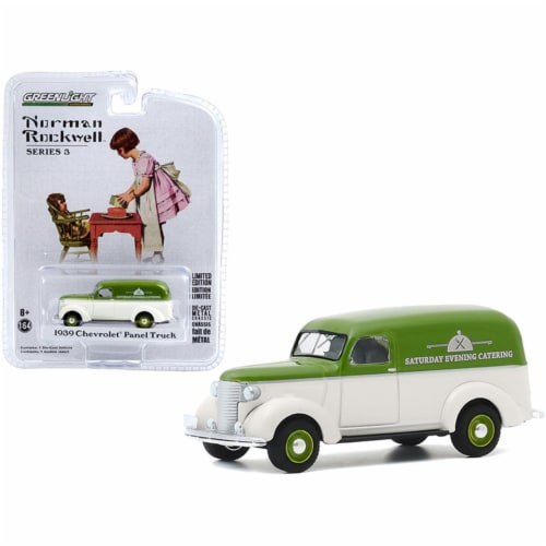 Greenlight 54040A 1-64 Scale 1939 Chevrolet Panel Truck Saturday Evening Catering Norman Rock Perspective: front