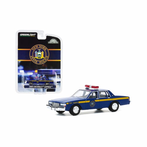 Greenlight 30180 1990 Chevrolet Caprice New York State Police Blue with Yellow Stripes Hobby Perspective: front