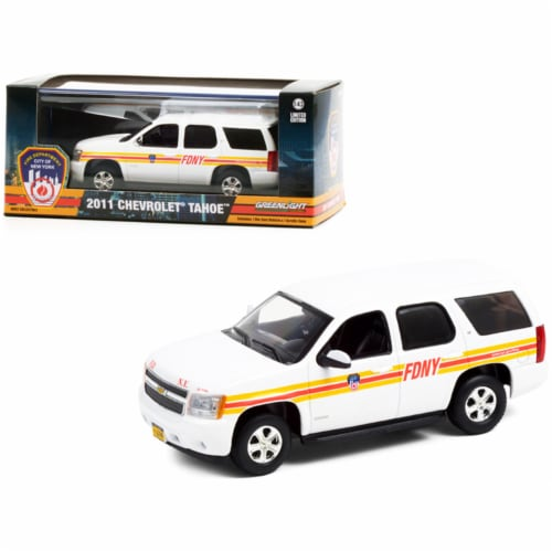2011 Chevrolet Tahoe White with Stripes FDNY \Fire Department City of New York\ Perspective: front