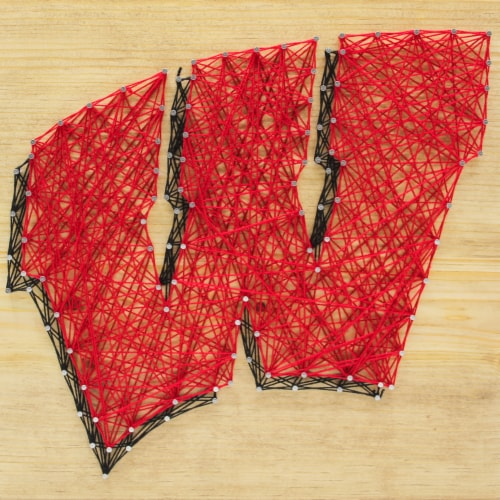Wisconsin Badgers Team Pride String Art Craft Kit Perspective: front