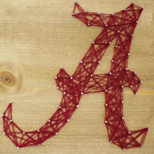 Alabama Crimson Tide Team Pride String Art Craft Kit Perspective: front