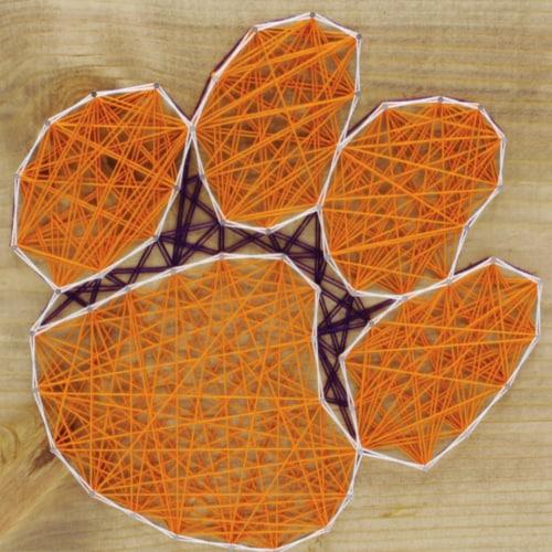 Clemson Tigers Team Pride String Art Craft Kit Perspective: front