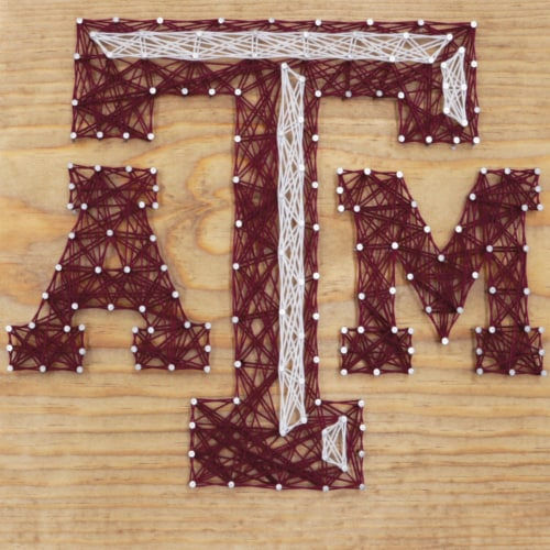 Texas A&M Aggies Team Pride String Art Craft Kit Perspective: front