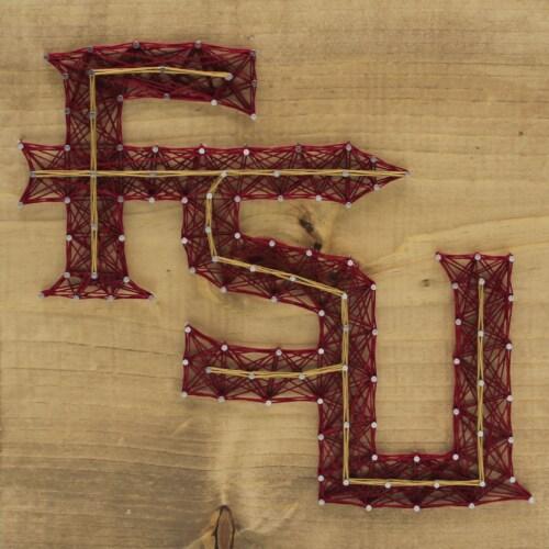 Florida State Seminoles Team Pride String Art Craft Kit Perspective: front
