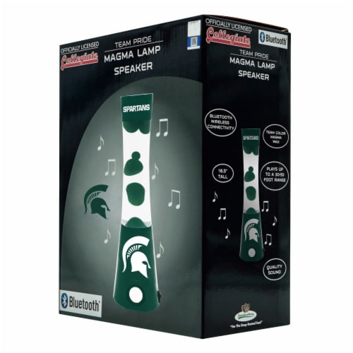 Michigan State Spartans Team Pride Magma Lamp Speaker Perspective: front