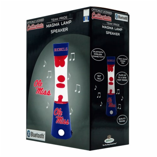 Mississippi Ole Miss Team Pride Magma Lamp Speaker Perspective: front