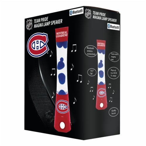 NHL Montreal Canadiens Team Pride Magma Lamp Speaker Perspective: front
