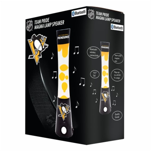 NHL Pittsburgh Penguins Team Pride Magma Lamp Speaker Perspective: front