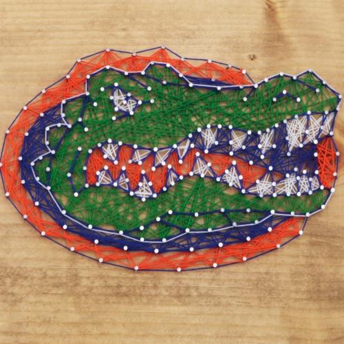 Florida Gators Team Pride String Art Craft Kit Perspective: front