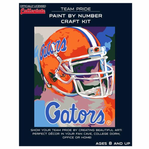 Florida Gators Team Pride Paint by Number Craft Kit Perspective: front