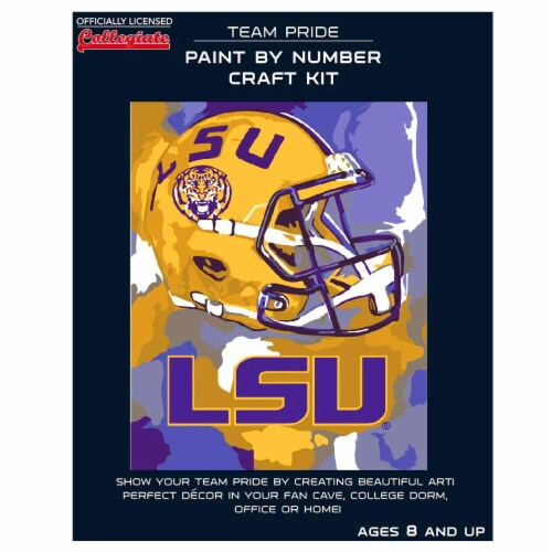 LSU Tigers Team Pride Paint by Number Craft Kit Perspective: front