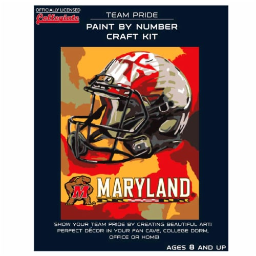 Maryland Terrapins Team Pride Paint by Number Craft Kit Perspective: front