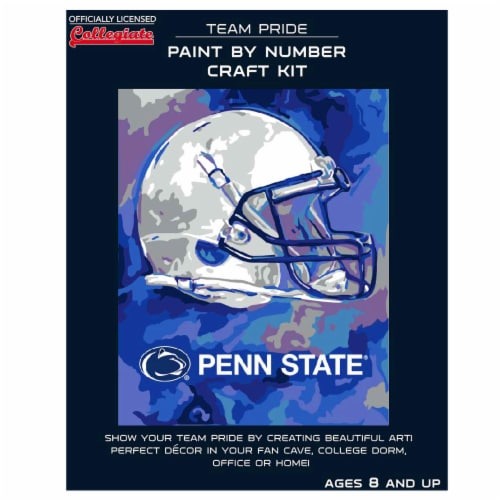Penn State Nittany Lions Team Pride Paint by Number Craft Kit Perspective: front