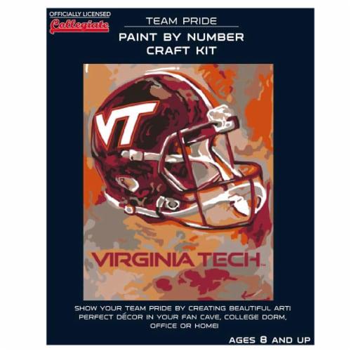 Virginia Tech Hokies Team Pride Paint by Number Craft Kit Perspective: front