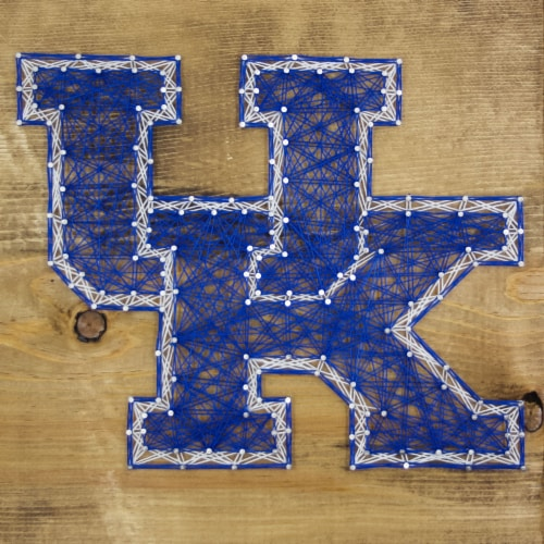 Kentucky Wildcats Team Pride String Art Craft Kit Perspective: front