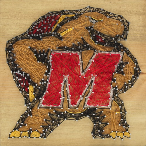Maryland Terrapins Team Pride String Art Craft Kit Perspective: front