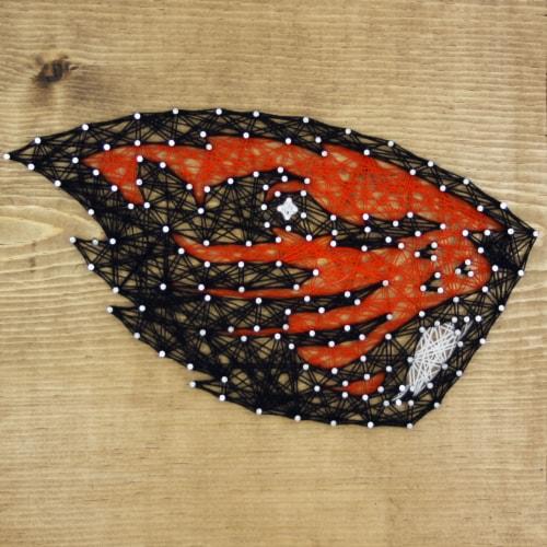 Oregon State Beavers Team Pride String Art Craft Kit Perspective: front