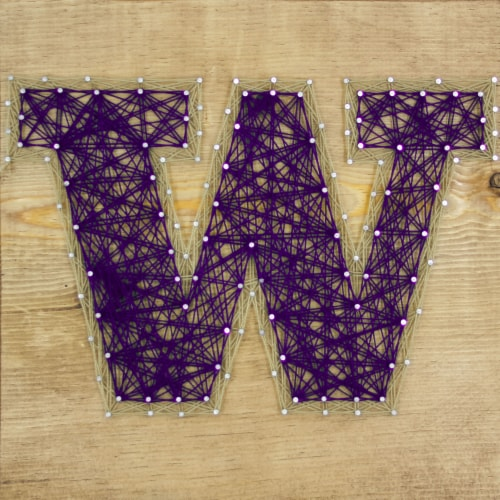 Washington Huskies Team Pride String Art Craft Kit Perspective: front