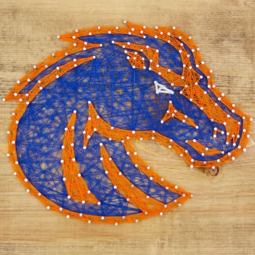 Boise State Broncos Team Pride String Art Craft Kit Perspective: front