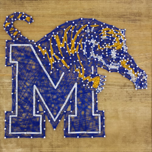 Memphis Tigers Team Pride String Art Craft Kit Perspective: front