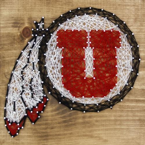 Utah Utes Team Pride String Art Craft Kit Perspective: front