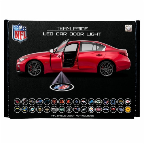 NFL Jacksonville Jaguars Team Pride LED Car Door Light Perspective: front
