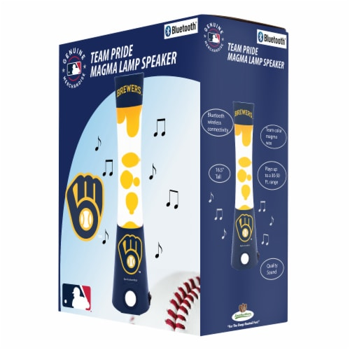 Milwaukee Brewers Team Pride Magma Lamp Speaker Perspective: front